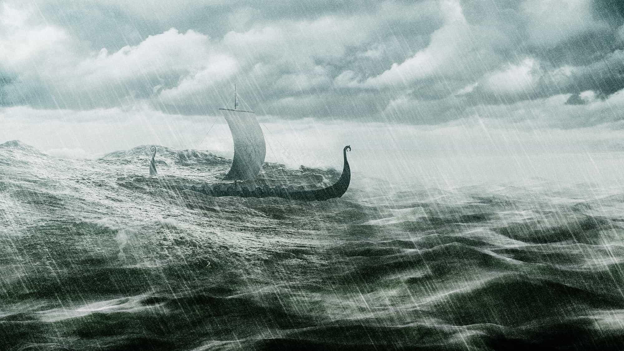 Viking Ship Digital Art Omnislash Visual