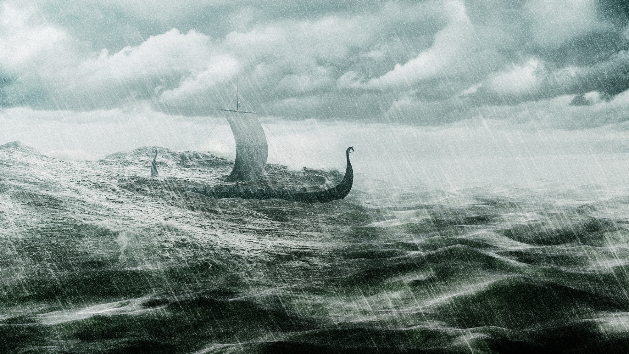 Viking Ship Digital Art