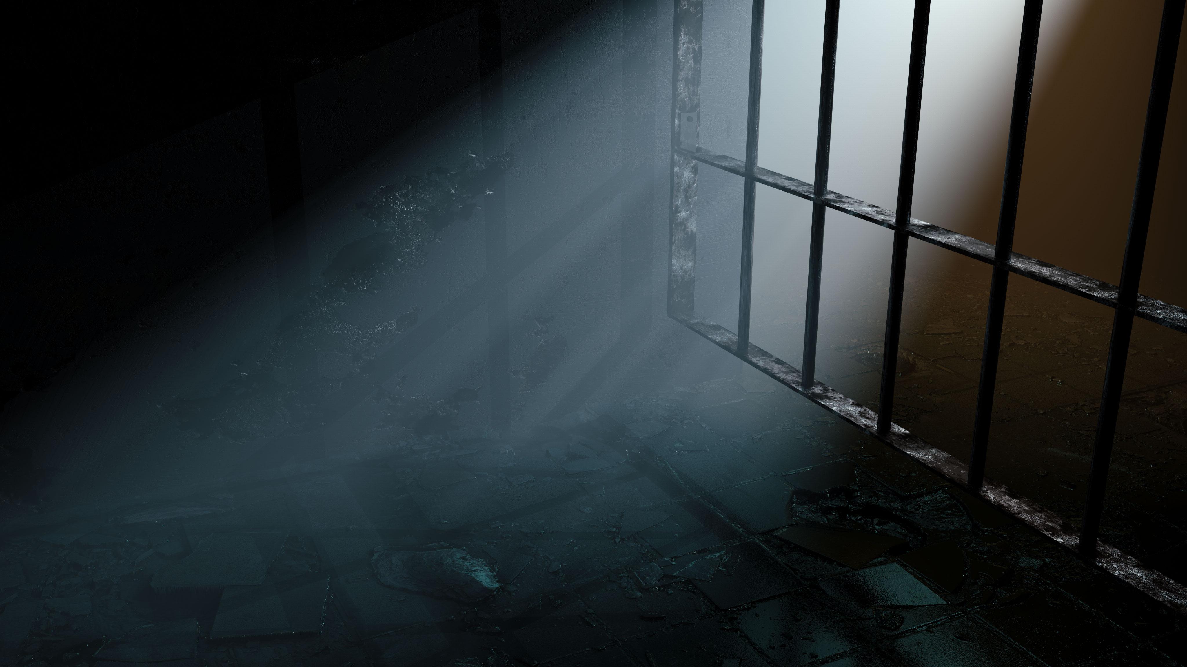 PrisonCell-3D Render in Redshift