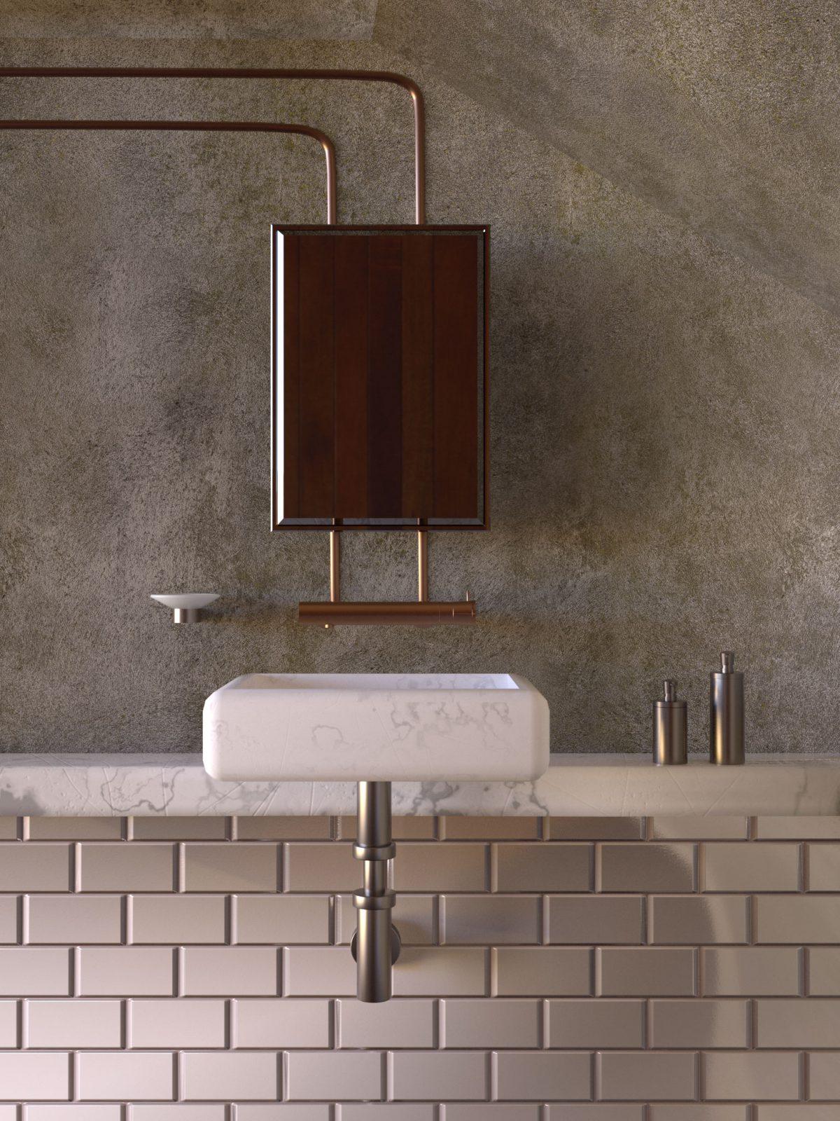 Interior Bathroom 3D Render