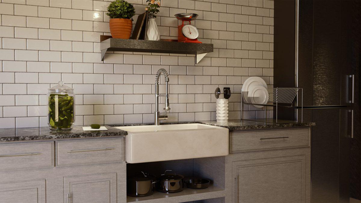 Interior Kitchen 3D Render
