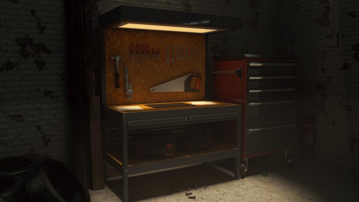 Tool Bench - 3D Render