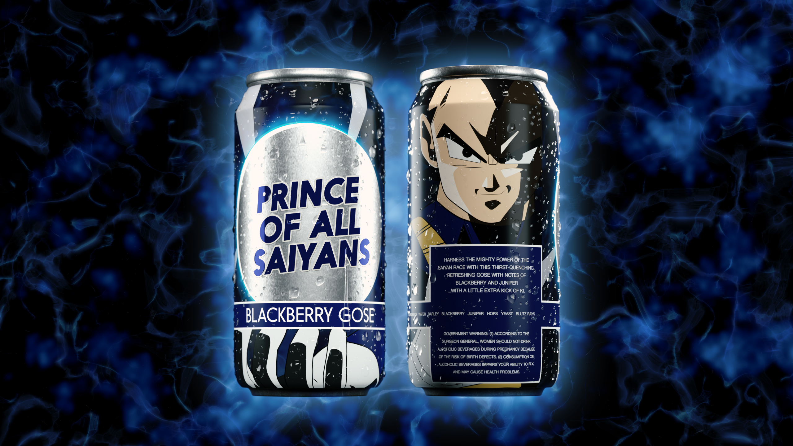 Vegeta 3D Beer Can