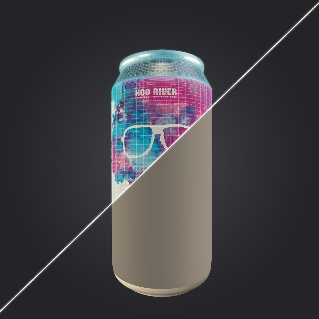 Beer Can 3D Render