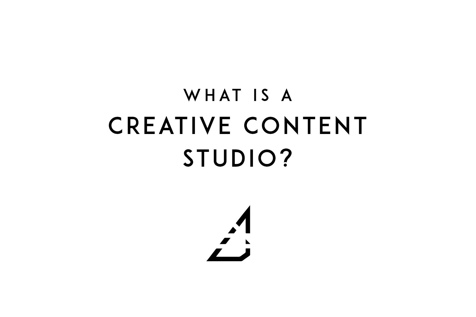 What is a creative content studio?