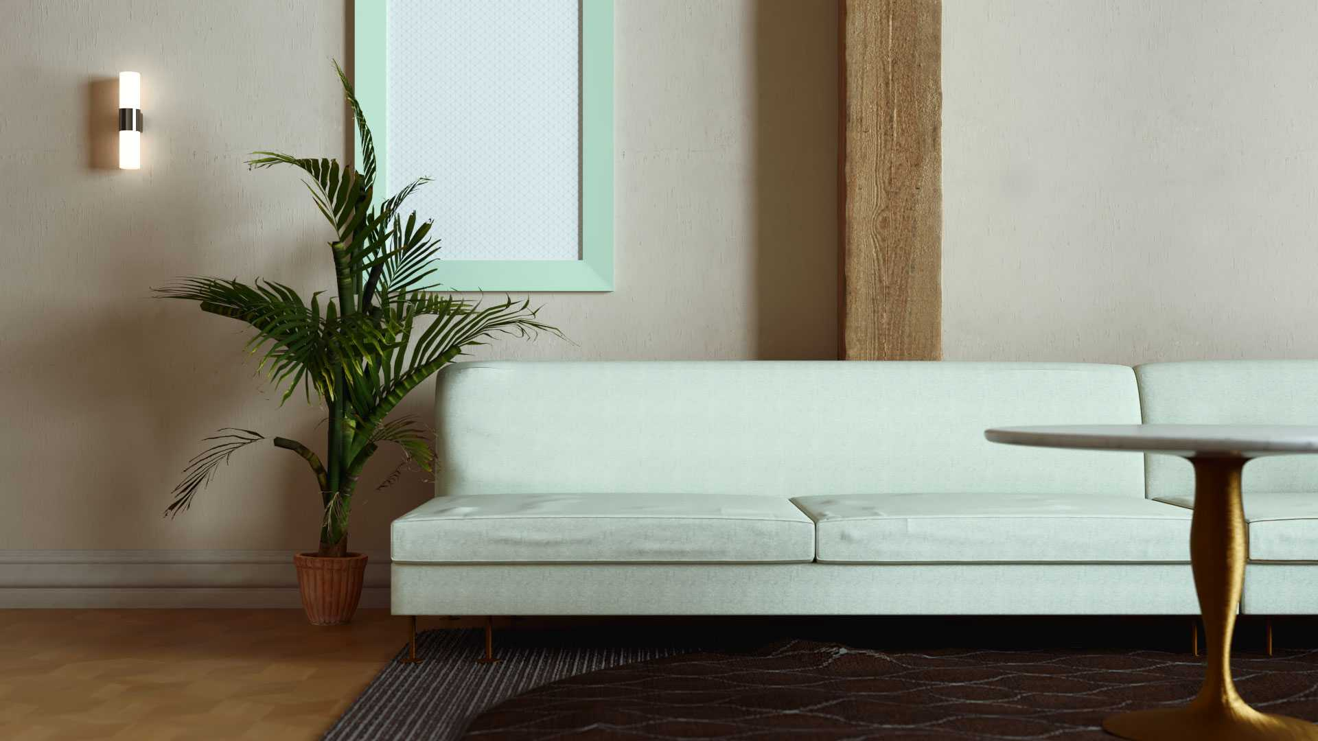 Photorealistic Couch 3D Render